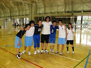 With the volleyball team at school